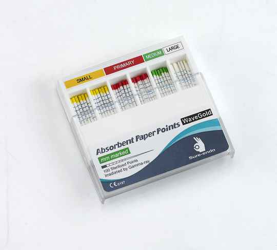 221003 PAPER POINTS VOOR WAVEONE GOLD PRIMARY/ CROSSCUT ROOD (100ST)