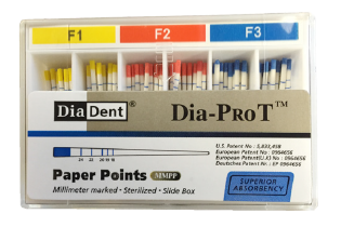 103943 DIADENT PAPERPOINTS VOOR DIA-X ASSORTED D3-D5 (F1-F3) (100st)