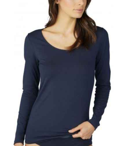 Mey Cotton Pure Longsleeve - 26502 - Night Blue