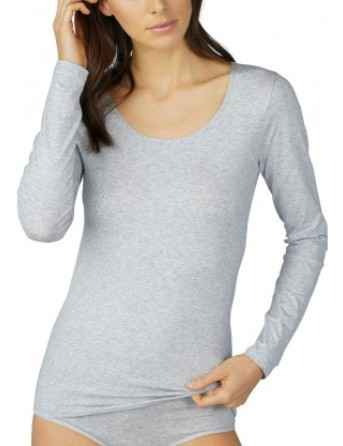 Mey Cotton Pure Longsleeve - 26502 - Grey Melange