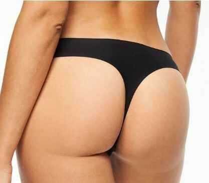 Soft Stretch Naadloze String - 2649 - zwart