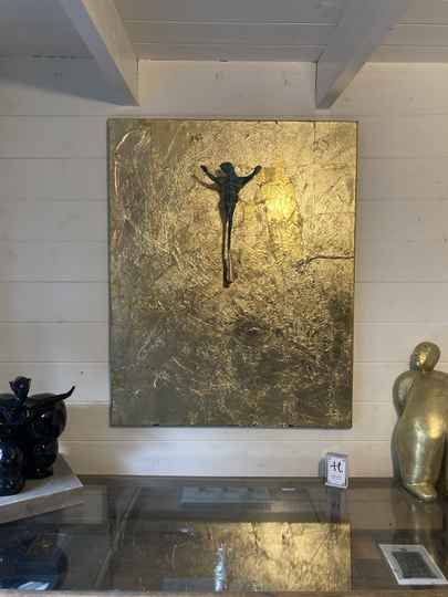 3D painting Gold Leaf and Bronze