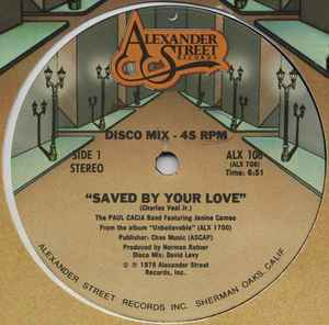 Paul Cacia Band, The  ‎– Saved By Your Love  [idnr:14269]