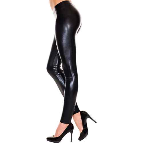 Wetlook Legging - Zwart.    35112-BLACK