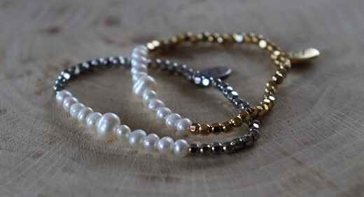 RVS - Armband Kubes Parel in Goud of ZIlver
