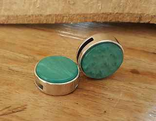 Turquoise Plat Schuiver20mm