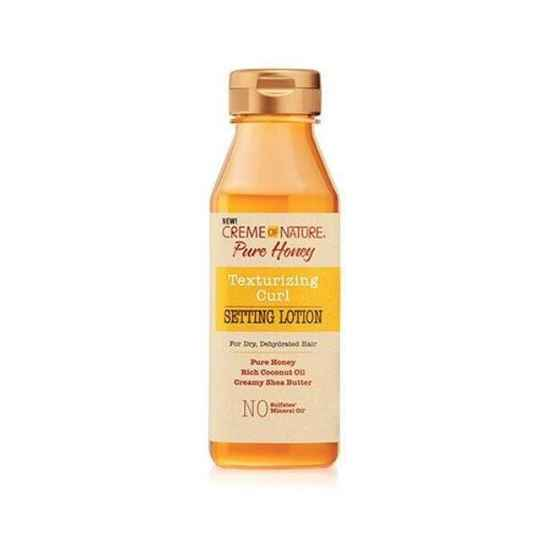 Creme Of Nature Pure Honey Texturizing Curl Setting Lotion For Dry Dehydrated Hair (355ml)