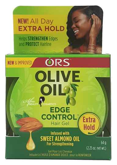 ORS Olive Oil Edge Control Hair Gel Infused With Sweet Almond Oil For Strengthning (64g)