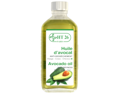 HT26 Paris Huile d'Advocat Anti-Dessèchement Visage - Corps - Cheveux Avocado Oil Anti Dryness Face - Body - Hair (125ml)