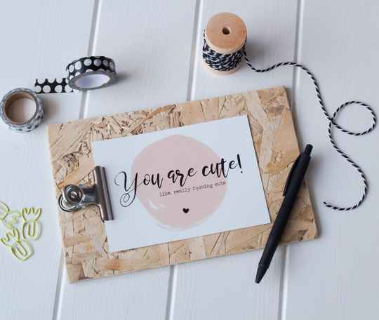 Quotekaart - You Are Cute