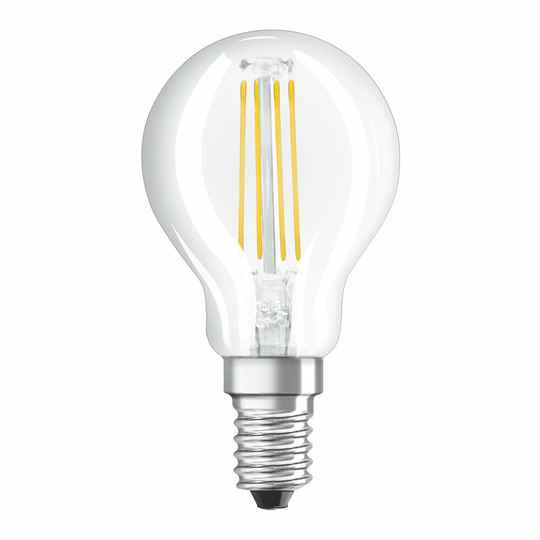 Osram Led kogel Filament E14 4,5w (vervangt 40 watt) helder 2700k 470L