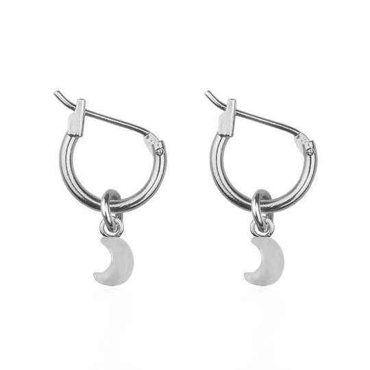 Small Moon Hoops - Gold/Silver/Rose