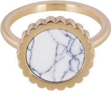 Ring R376 Gold 'Must Have Steel'