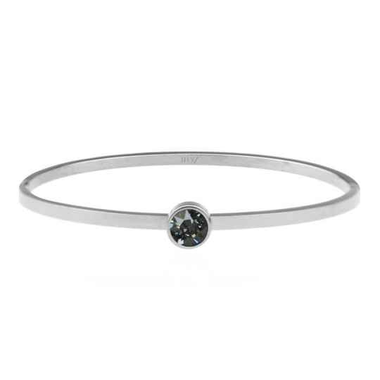 Little Stone Bangle Grey/Blue - Gold/Silver/Rose