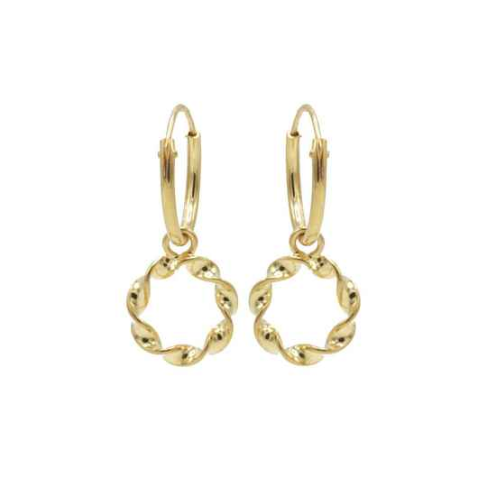 Hoops Symbool Twisted Gold