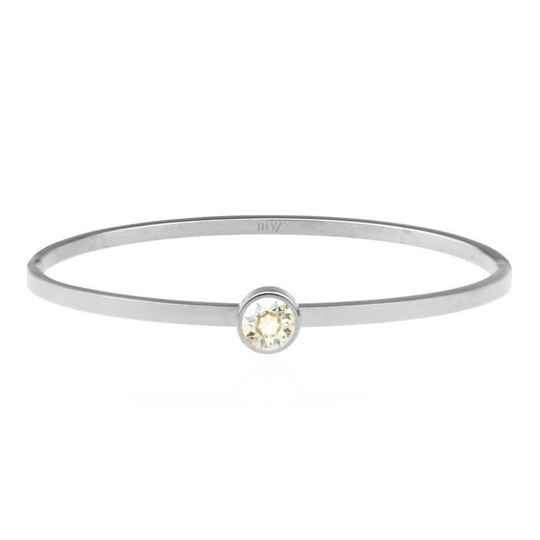 Little Stone Bangle Silver - Gold/Silver/Rose