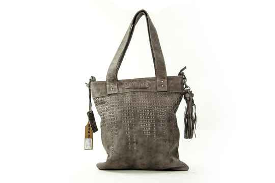 Bag2Bag Baris Grey - Leer