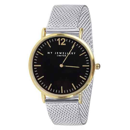 Bicolor Watch Limited Silver - Black/Gold