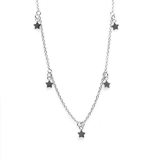 KARMA Necklace 5 Stars - 925 zilver