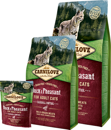 Carnilove Cat Duck & Pheasant Adult - Hairball Control