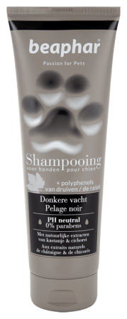 Shampooing tube Donkere vacht