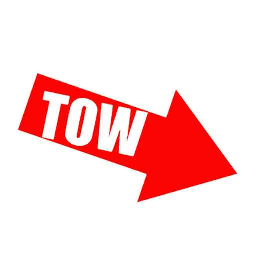 TOW sticker Rood
