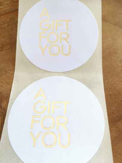 "Luxe cadeau stickers ""A gift for you"""