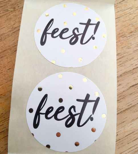 "Luxe cadeau stickers ""Feest"""