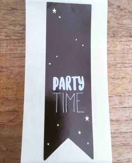 "Luxe cadeau stickers "" Party time"""