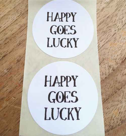 "Luxe cadeau stickers ""Happy goes Lucky"""