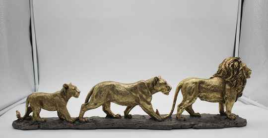Lion Family                      Antique Gold L 60cm