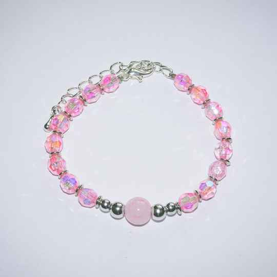 Crystal - roze ball armband