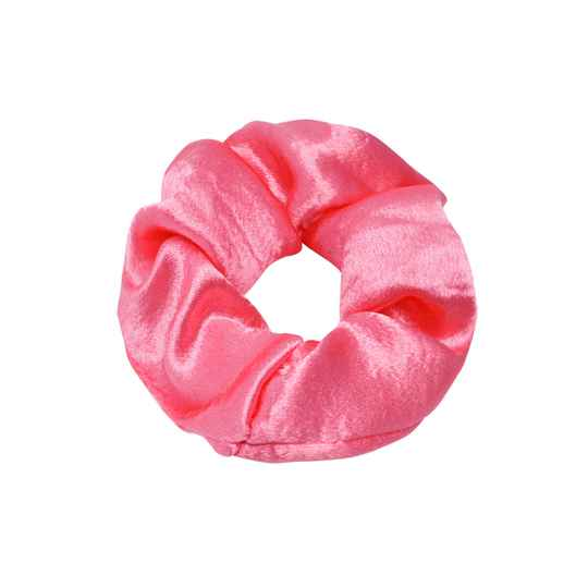 Scrunchie -  roze satin