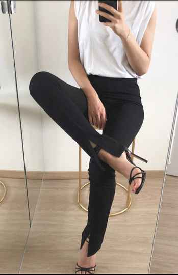 Split legging - Zwart