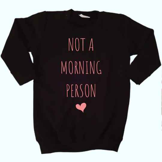 Sweater jurkje | Not a morning person