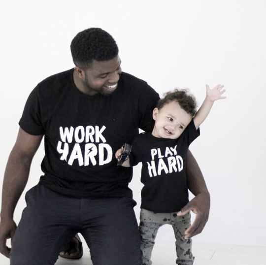 Twinning Shirts | Work Hard - Play Hard