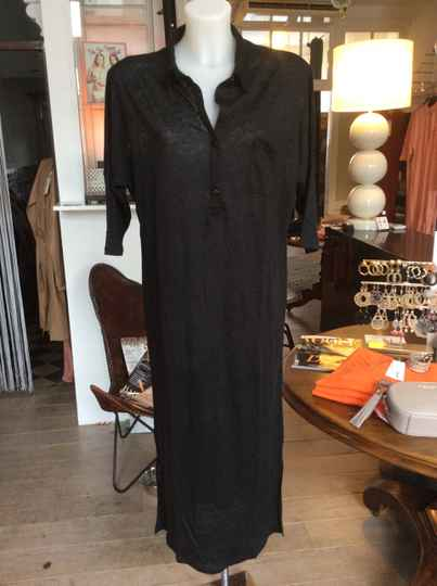 Not Shy Linnen Dress Black