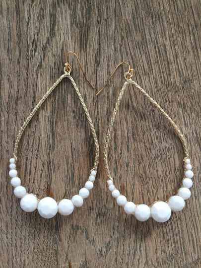 Oorbellen Oval Chain White