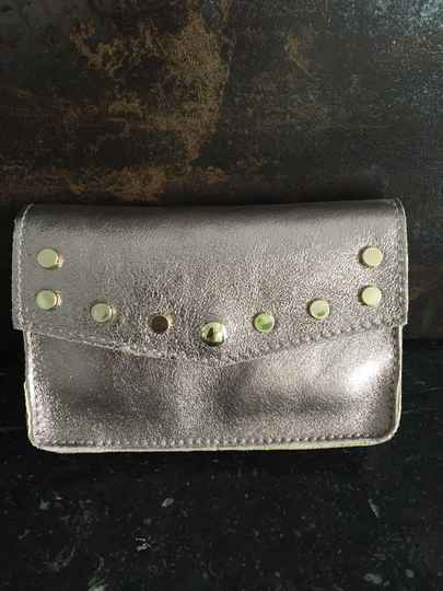 Small Leather Studded Clutch