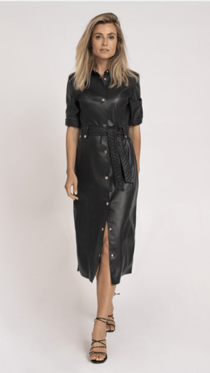 Fifth House Vegan Leather Dress black