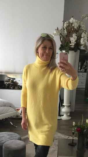 Long Pullover Yellow
