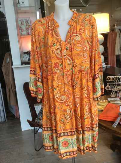 Dress Paisley Orange