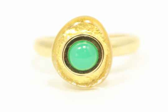 9 Karaat Ring (Chrysopraas -01)