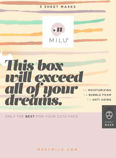 MILU 3 sheet masks gift box