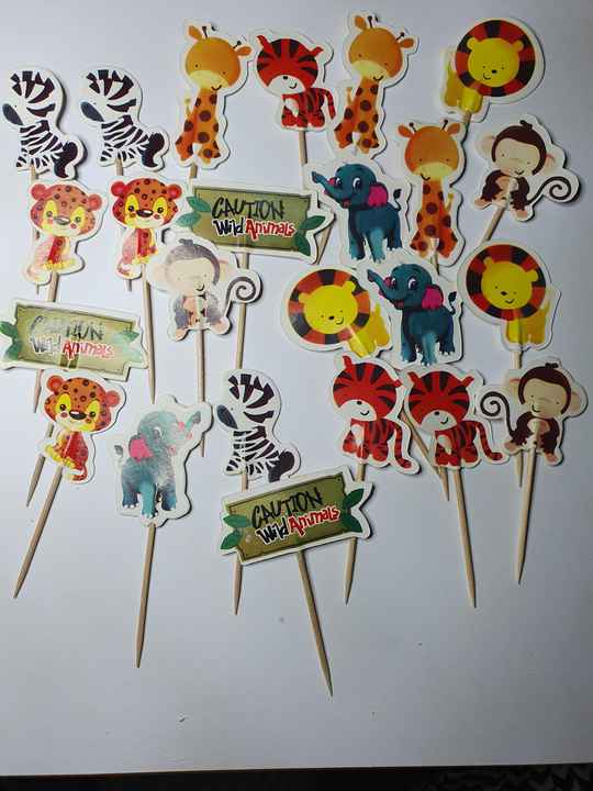 Jungle thema cupcake toppers ST70