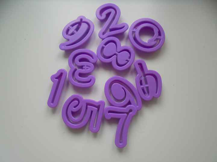 Disney style font number cutters RZ87