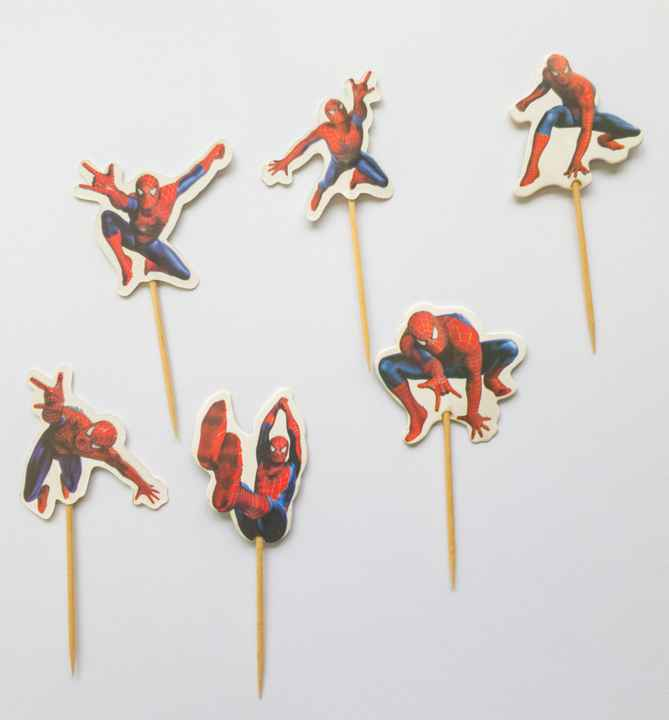 Spider m Cupcake toppers ST28