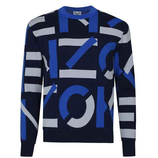 New monogram pullover blue SS21