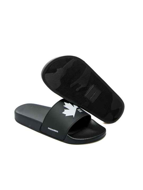 Dsquared2 slides black leaf SS21