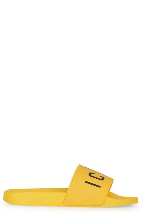 Dsquared2 yellow flip-flops SS21